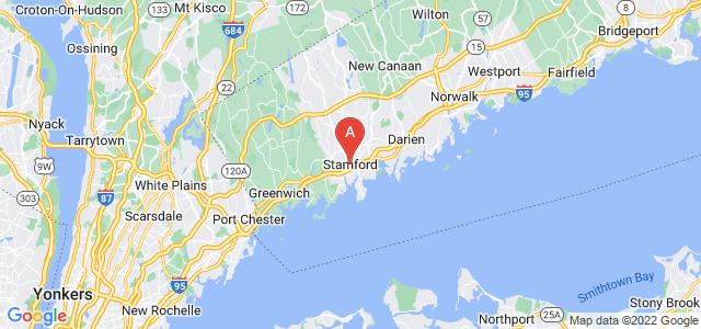 map of Stamford, United States of America